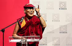 Italy: Dalai Lama during the ceremony for honorary citizenship, 20 Oct. 2016