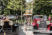 Como, Italy, Concorso d'Eleganza Villa D'Este, from left Rolls Royce Phantom and Isotta Fraschini tipo 8A SS