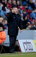 Photo: Jed Wee.<br />Bradford City v Swansea City. Coca Cola League 1. 14/01/2006.<br />Swansea manager Kenny Jackett tries to urge his troops on.