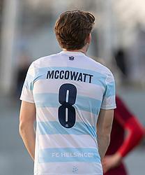 Debutanten Callum McCowatt (FC Helsingør) under kampen i 1. Division mellem FC Helsingør og Skive IK den 18. oktober 2020 på Helsingør Stadion (Foto: Claus Birch).