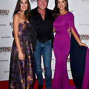 Lara Lemon, Michael Flatley and Mary Louise Kelly attend Blackbird - World Premiere with Michael Flatley at May Fair Hotel, London, UK. 28th September 2018.