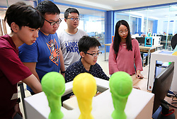 June 12, 2018 - Nantong, Nantong, China - Nantong, CHINA-The 3D printed FIFA World Cup trophies can be seen in Nantong, east China's Jiangsu Province, marking the upcoming World Cup Russia 2018. (Credit Image: © SIPA Asia via ZUMA Wire)