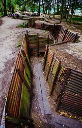 First World War trenches at Sanctuary Wood near Ypres, Belgium<br /> <br /> (c) Andrew Wilson | Edinburgh Elite media