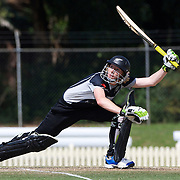New Zealand Captain Haidee Tiffen batting during the match between England and New Zealand in the Super 6 stage of the ICC Women's World Cup Cricket tournament at Bankstown Oval, Sydney, Australia on March 14 2009, England won the match by 31 runs. Photo Tim Clayton