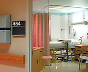 Hospital patient room.