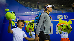 September 26, 2018 - Garbine Muguruza of Spain walks onto the court for her third-round match at the 2018 Dongfeng Motor Wuhan Open WTA Premier 5 tennis tournament (Credit Image: © AFP7 via ZUMA Wire)