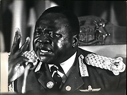 Dec. 12, 1965 - DAU Meeting Mauritius: President Idi Amin of Uganda addressing the DAU Summit in Mauritius as the outgoing Chairman. Pix taken on the day of the Israeli raid in Uganda. Credit: CameraPix. (Credit Image: © Keystone Pictures USA/ZUMAPRESS.com)