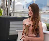 Actress Mackenzie Foy  at the The Little Prince – Le Petit Prince film photo call at the 68th Cannes Film Festival Friday 22nd May 2015, Cannes, France.
