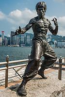 Kowloon, Hong Kong ,China - June 9, 2014: Bruce Lee statue Avenue of Stars Tsim Sha Tsui Kowloon in Hong Kong