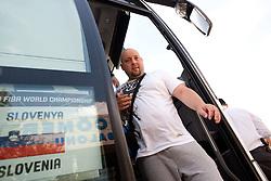 Physiotherapist Sebastjan Ogris after  the Practice session of National team of Slovenia at 2010 FIBA World Championships on September 4, 2010 at Ahmet Comert Spor Salonu in Istanbul, Turkey. (Photo By Vid Ponikvar / Sportida.com)