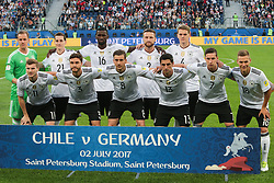 July 2, 2017 - Saint Petersburg, Russia - Players of the Germany national football team during the 2017 FIFA Confederations Cup final match between Chile and Germany at Saint Petersburg Stadium on July 02, 2017 in St. Petersburg, Russia. (Credit Image: © Igor Russak/NurPhoto via ZUMA Press)