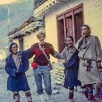 Gordon Wiltsie in Nepal, 1977.