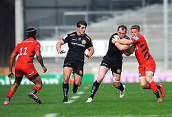 Billy Keast of Exeter Braves runs with the ball- Mandatory by-line: Nizaam Jones/JMP - 22/04/2019 - RUGBY - Sandy Park Stadium - Exeter, England - Exeter Braves v Saracens Storm - Premiership Rugby Shield
