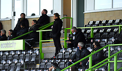 Forest Green Rovers manager Mark Cooper watches his side from the stands- Mandatory by-line: Nizaam Jones/JMP - 17/10/2020 - FOOTBALL - innocent New Lawn Stadium - Nailsworth, England - Forest Green Rovers v Stevenage - Sky Bet League Two