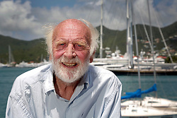 06 April 2011. St Maarten, Antilles, Caribbean.<br /> Anthony Smith, 85 yrs old.<br /> After more than 9 weeks at sea, having started in the Canary islands, captain of the 'Antiki' transatlantic raft  arrives in St Maarten in the Caribbean following an epic voyage. The incredible vessel is crewed by Anthony Smith (84 yrs old) British adventurer, David Hildred, sailing master and British Virgin Islands resident, Dr Andrew Bainbridge of Alberta, Canada and John Russell, solicitor and UK resident.<br /> Photo; Charlie Varley/varleypix.com