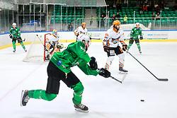 Miha Zajc of HK SZ Olimpija during ice hockey match between HK SZ Olimpija Ljubljana and Steinbach Black Wings Linz in bet-at-home ICE Hockey League, on September 26, 2021 in Hala Tivoli, Ljubljana, Slovenia. Photo by Morgen Kristan / Sportida