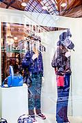 Milan,  Prada shop window in Galleria Vittorio Emanuele