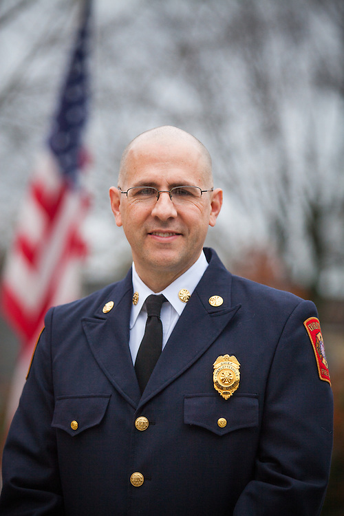 Andrew Baxter, Fire Chief for the City of Charlottesville, Virginia. Photo by Justin Ide