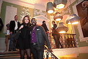 ELLIE WEBSTER; ORLANDO HAMILTON, Streetsmart 2009 - campaign launch. The House Of St Barnabus, 1 Greek Street, Soho Square, London W1, <br /> Homeless charity hosts party to launch latest fundraising campaign. Throughout November and December, customers at participating restaurants will be asked to donate one pound to help those living rough. 27 October 2009