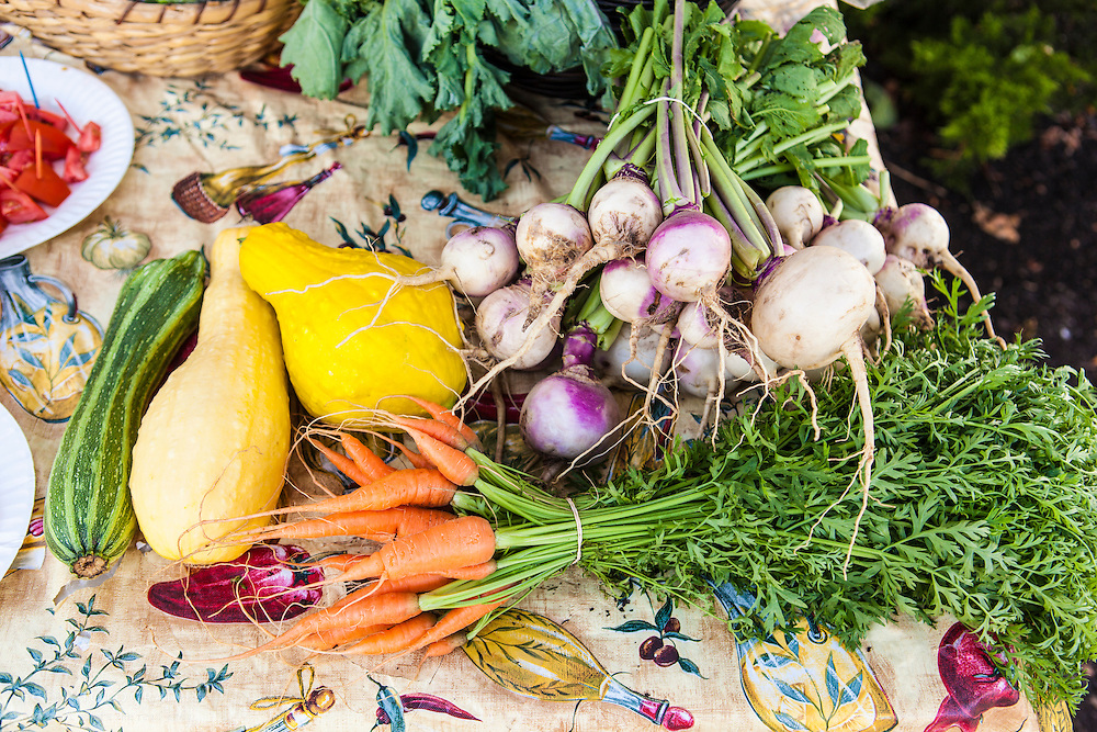 Produce at the Farmers Market on Bowdoin Street in the Dorchester neighborhood of Boston, Massachusetts.