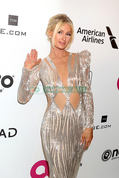 February 24, 2019 - West Hollywood, CA, USA - LOS ANGELES - FEB 24:  Paris Hilton at the Elton John Oscar Viewing Party on the West Hollywood Park on February 24, 2019 in West Hollywood, CA (Credit Image: © Kay Blake/ZUMA Wire)