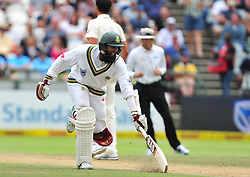 Cape Town-180324 South Africa's Hashim Amla was the secong to go in the second innings when cought on slipper against  Australian  in the 3rd test of the Sunfoil cricket test at Newlands cricket stadium. .Photograph:Phando Jikelo/African News Agency/ANA