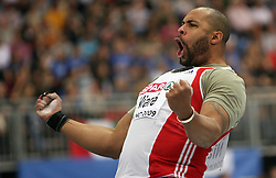 Yves Niare  of France reacts at Shot Put men at the 3rd day of  European Athletics Indoor Championships Torino 2009 (6th - 8th March), at Oval Lingotto Stadium,  Torino, Italy, on March 8, 2009. (Photo by Vid Ponikvar / Sportida)