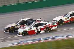 July 13, 2018 - Sparta, Kentucky, United States of America - Ty Majeski (60) and Cole Custer (00) battle for position during the Alsco 300 at Kentucky Speedway in Sparta, Kentucky. (Credit Image: © Chris Owens Asp Inc/ASP via ZUMA Wire)