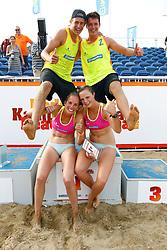 20150830 NED: NK Beachvolleybal 2015, Scheveningen<br />Nederlands Kampioenen Beachvolleybal 2015, Steven v.d. Velde en Dirk Boehle, Danielle Remmers en Michelle Stiekema