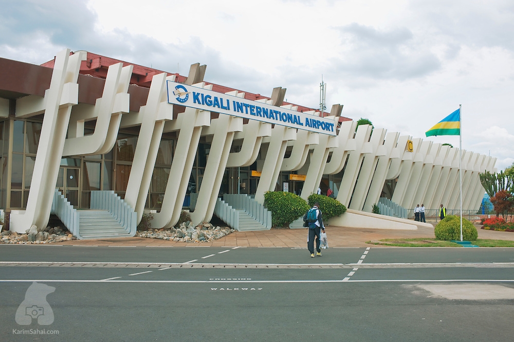 Rwanda's Kigali International Airport's passenger teminal seen from the tarmac