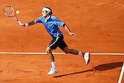 Roland Garros. Paris, France. June 11th 2006..Men's final. Roger Federer against Rafael Nadal.