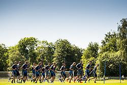 June 1, 2018 - BÃ¥Stad, Sverige - 180601 Sveriges spelare värmer upp under en träning under Svenska fotbollslandslaget förläger inför fotbolls-VM den 1 juni 2018 i BÃ¥stad  (Credit Image: © Petter Arvidson/Bildbyran via ZUMA Press)