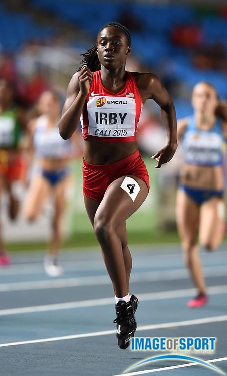 Jul 16, 2015, Cali, Columbia; Lynna Irby (USA) wins womens 400m semifinal in 52.77 nduring the 2015 IAAF World Youth Championships at Estadio Olimpico Pascual Guerrero. Photo by Jiro Mochizuki