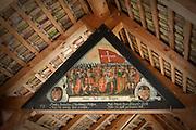 Triangular fresco/paining inside the Chapel Bridge, Lucerne, Switzerland.