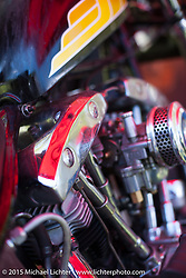 Friday - for the builder-invite bike check-in for the Born-Free 6 Vintage Chopper and Classic Motorcycle Show. Silverado, CA. USA. June 27, 2014.  Photography ©2014 Michael Lichter.