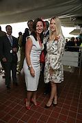 Davina McCall and Lady Alexandra Gordon-Lennox, Glorious Goodwood. 2 August 2007.  -DO NOT ARCHIVE-© Copyright Photograph by Dafydd Jones. 248 Clapham Rd. London SW9 0PZ. Tel 0207 820 0771. www.dafjones.com.
