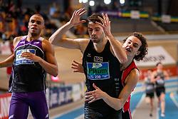 Maarten Plaum comes in second during the 800 meters on Dutch Indoor Athletics Championship on February 23, 2020 in Omnisport De Voorwaarts, Apeldoorn
