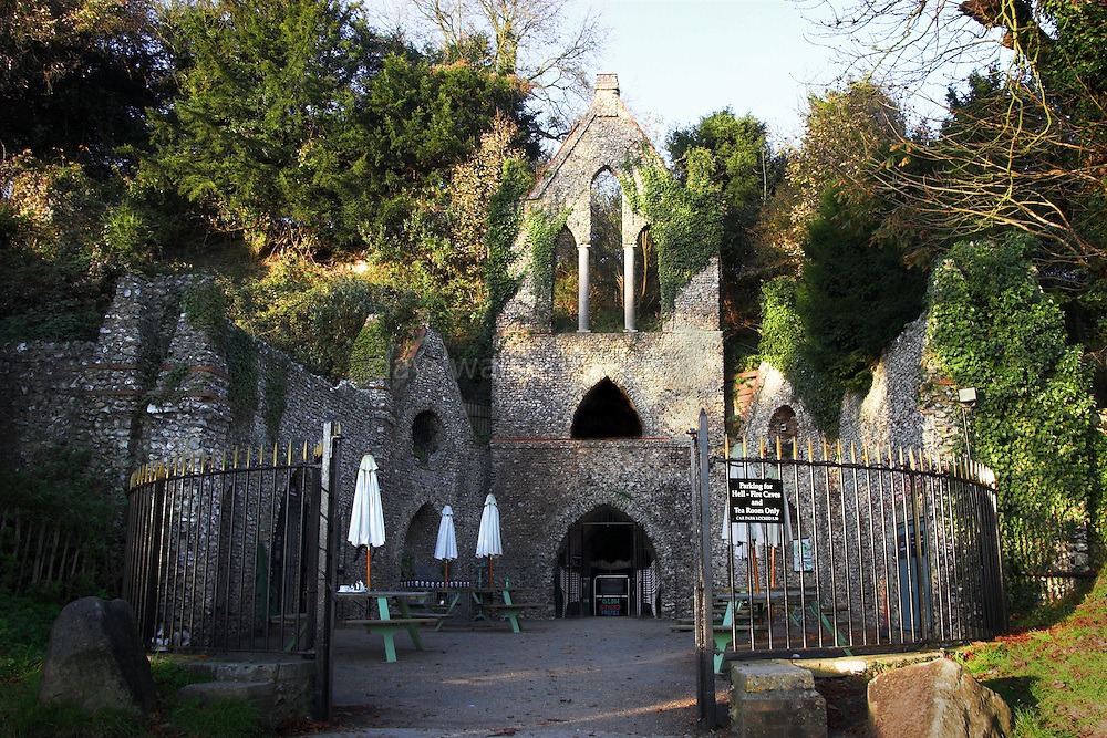 The Hellfire Club Caves, built by in the 18th century by Sir Francis Dashwood, into a chalk hill in Buckinghamshire