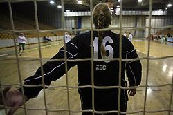 Goalkeeper of Olimpija Branka Zec at  handball game between women team RK Olimpija vs ZRK Brezice at 1st round of National Championship, on September 13, 2008, in Arena Tivoli, Ljubljana, Slovenija. Olimpija won 41:17. (Photo by Vid Ponikvar / Sportal Images)