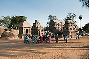 India, Tamil Nadu, Mahabalipuram, Five Rathas