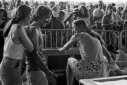 Good friends having good times in the Lighting Booth. Grateful Dead at Pine Knob Music Theatre, Clarkston, MI on 20 June 1991