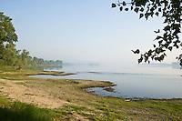 Donau, Danube river, landscape south of Vidin, near Nikopol, Bulgaria