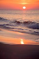 Sunrise over the beach; Cape May; NJ.