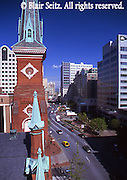 Harrisburg, PA, City Center Street Scape, 2nd and Market Streets, Market Square Presbyterian Church