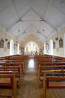 Interior of catholic church on the Aran Islands County Galway Ireland