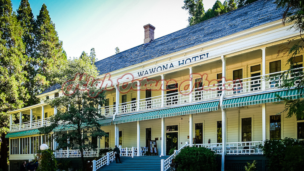 Historic Wawona Hotel, in Yosemite National Park, is one of California's oldest hotels.