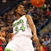 Markisha Wright, Notre Dame, in action during the Notre Dame Fighting Irish V Louisville Cardinals Semi Final match during the Big East Conference, 2013 Women's Basketball Championships at the XL Center, Hartford, Connecticut, USA. 11th March. Photo Tim Clayton