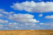 Negev Desert landscape and cloudscape