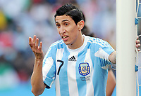 Fotball<br /> VM 2010<br /> 12.06.2010<br /> Argentina v Nigeria<br /> Foto: Witters/Digitalsport<br /> NORWAY ONLY<br /> <br /> Angel di Maria (Argentinien)<br /> Fussball WM 2010 in Suedafrika, Vorrunde, Argentinien - Nigeria