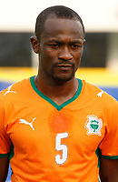 Photo: Steve Bond/Richard Lane Photography.<br />Ivory Coast v Benin. Africa Cup of Nations. 25/01/2008. Didier Zakora of Ivory Coast & Spurs